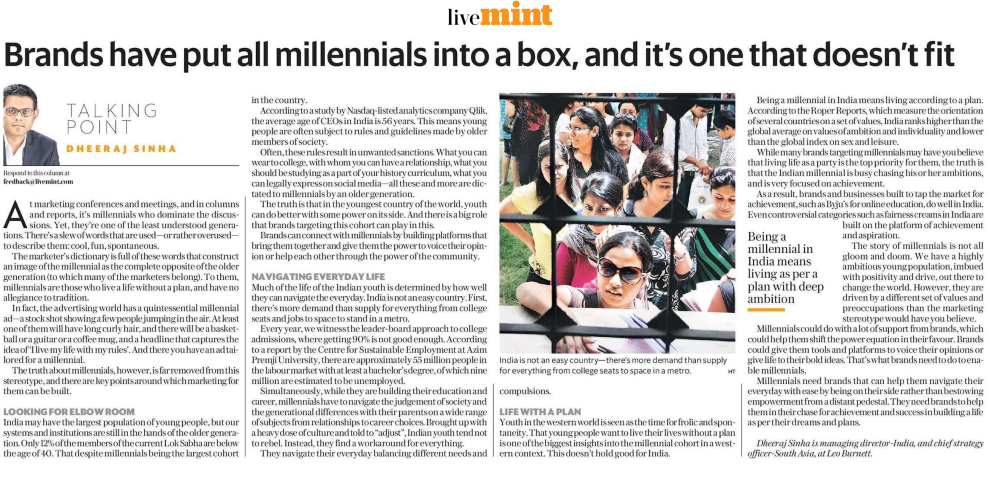 Brands have put all millennials into a box, and its one that may not fit.